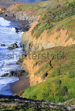 Northern California Rugged Coastline near Rodeo Beach Stock photo © yhelfman