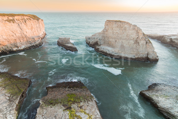 Sunset over Shark Fin Cove (Shark Tooth Beach). Stock photo © yhelfman