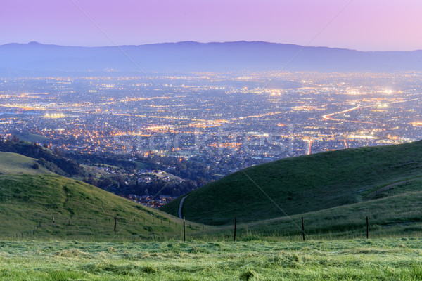 Silicium vallei schemering Open ruimte Stockfoto © yhelfman