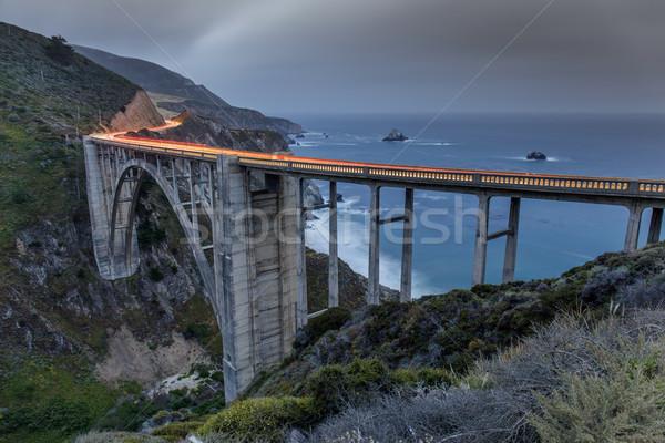 Samochodu most duży California USA niebo Zdjęcia stock © yhelfman