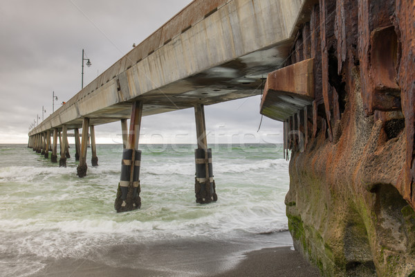 Under Pacifica Municipal Pier. Stock photo © yhelfman