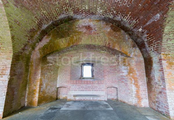 Empty corridors beneath Fort Point National Historic Site Stock photo © yhelfman