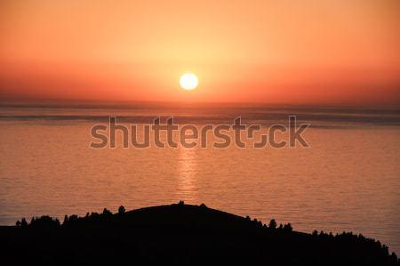Sunset over the Pacific Ocean. Sweeney Ridge, CA, USA Stock photo © yhelfman