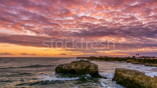 Stunning Sunset over Natural Bridges State Beach. Stock photo © yhelfman