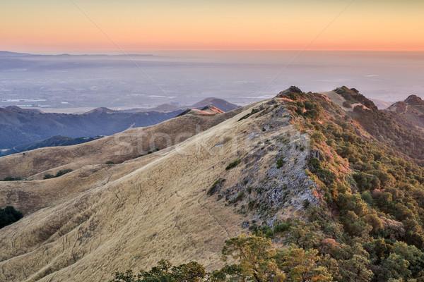 Sunset at Fremont Peak State park Stock photo © yhelfman