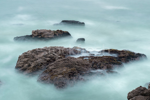 Long Exposure Of Waves and Rocks in the Pacific Ocean. Stock photo © yhelfman