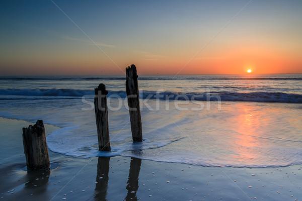 Fort Funston Old Pier Sunset. Stock photo © yhelfman
