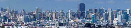 San Francisco downtown panoramic view from Bernal Heights Park Stock photo © yhelfman