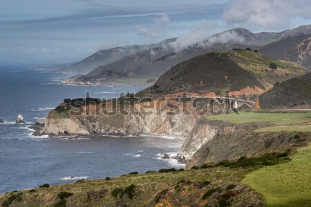 Pacific Ocean Coastline and Bixby Creek Bridge, Big Sur, Central Coast, California, USA Stock photo © yhelfman