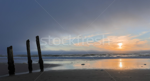 Ocean Beach Sunset Stock photo © yhelfman