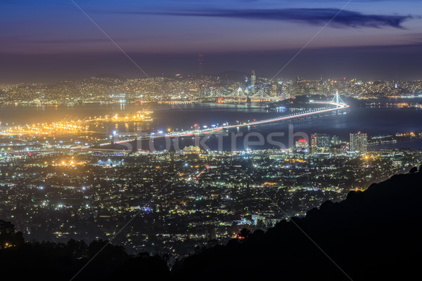 San Francisco nacht lichten grizzly heuvels Stockfoto © yhelfman