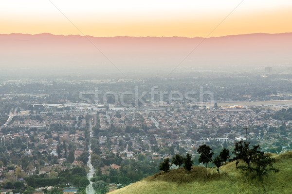 Air Polluted Silicon Valley Sunset. Stock photo © yhelfman