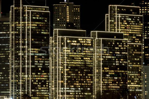 Embarcadero Center with edge lighting effects. Stock photo © yhelfman