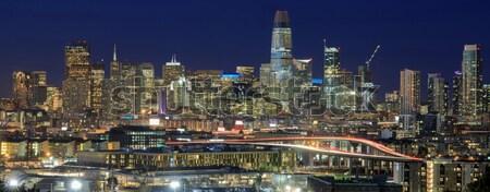 Autópályák San Francisco pénzügyi negyed panoráma üzlet égbolt Stock fotó © yhelfman