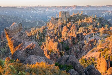 Last Sunight on Pinnacles National Park, California, USA Stock photo © yhelfman