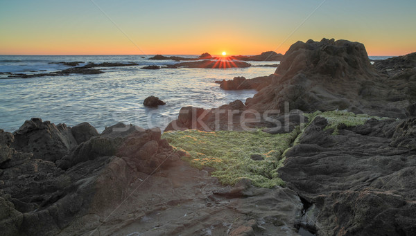 Sunset over Bean Hollow State Beach, Pescadero, California, USA Stock photo © yhelfman