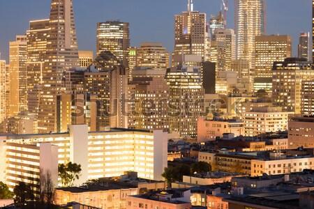 Stock photo: San Francisco Christmas Lights viewed from Russian Hill neighborhood.