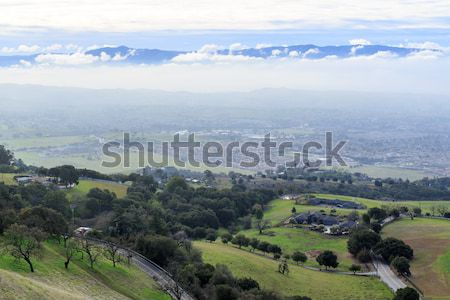 Silicon Valley Above The Fog And Under The Clouds. Stock photo © yhelfman