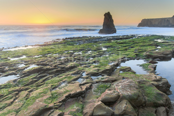 海岸線 日没 サンタクロース カリフォルニア 米国 ストックフォト © yhelfman