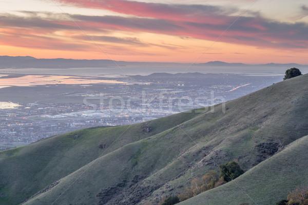 Silício vale hills pôr do sol parque Foto stock © yhelfman