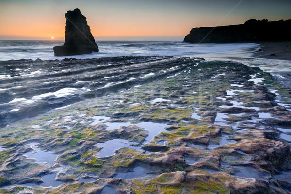 Low Tide at Davenport Crack Stock photo © yhelfman