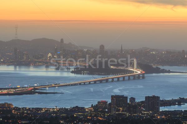 Schemering San Francisco grizzly heuvels Californië Stockfoto © yhelfman