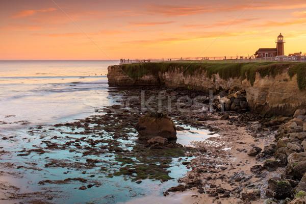 Wygaśnięcia latarni dziedzinie plaży punkt Święty mikołaj Zdjęcia stock © yhelfman