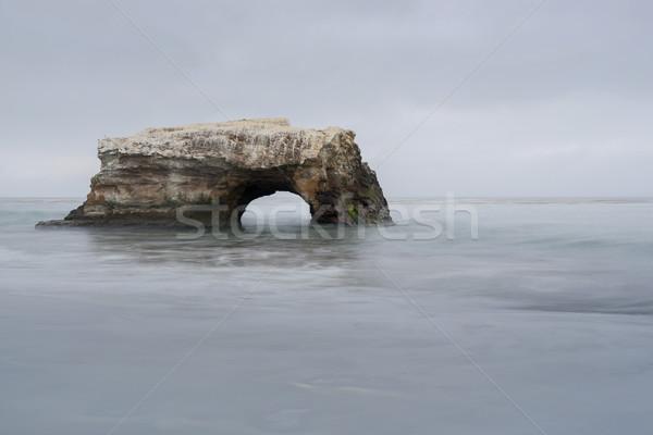Naturalnych mostów plaży Święty mikołaj California USA Zdjęcia stock © yhelfman