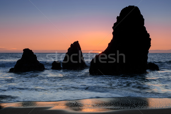 Sea Stacks Sunset at Rodeo Beach Stock photo © yhelfman