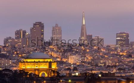 Pałac San Francisco panoramę dzielnica zmierzch Zdjęcia stock © yhelfman