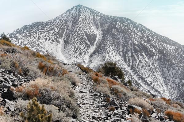 登山 望遠鏡 ピーク ポイント 死 谷 ストックフォト © yhelfman