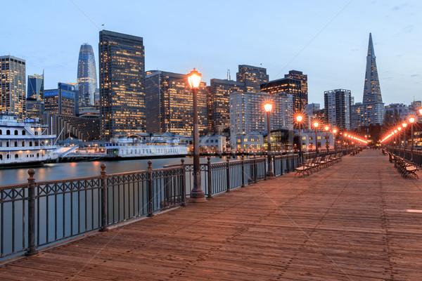 San Francisco skyline pier Californië USA kantoor Stockfoto © yhelfman