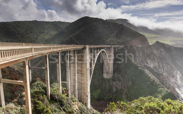 Bixby Creek Bridge After The Storm Stock photo © yhelfman