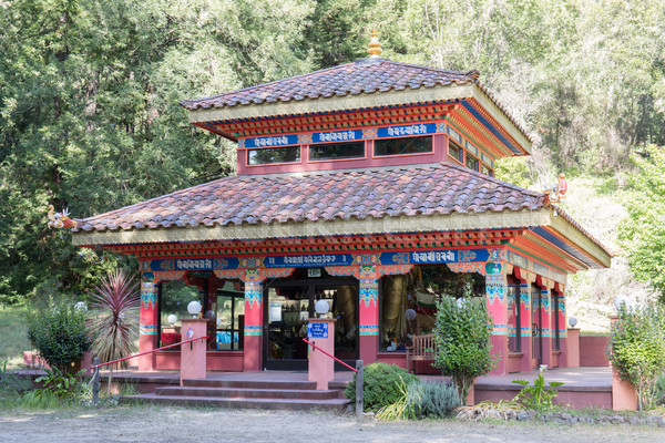 Terra medicina buda templo Califórnia Foto stock © yhelfman