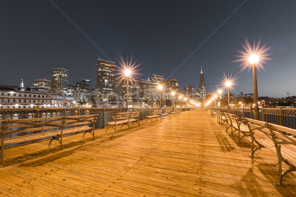 San Francisco Downtown from Pier 7, Dusk Stock photo © yhelfman