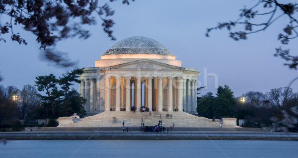 Stok fotoğraf: Akşam · karanlığı · alışveriş · merkezi · Washington · DC · Bina · seyahat