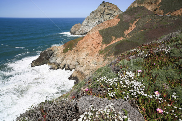 Devil's Slide sheer cliffs, coastal promontory, San Mateo County, California Stock photo © yhelfman