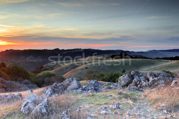 Sunset Views from Black Mountain Looking Northwest. Stock photo © yhelfman