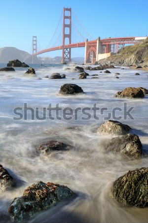 Foto stock: Ver · Golden · Gate · Bridge · praia · San · Francisco