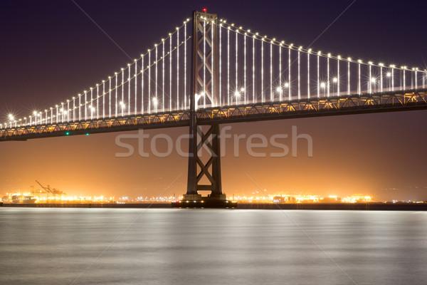San Francisco-Oakland Bay Bridge, Night Stock photo © yhelfman
