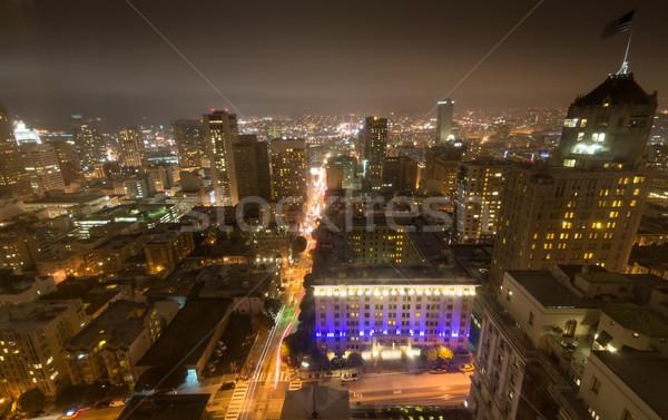 Stok fotoğraf: San · Francisco · şehir · tepe · akşam · karanlığı