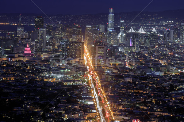 San Francisco City Lights Stock photo © yhelfman