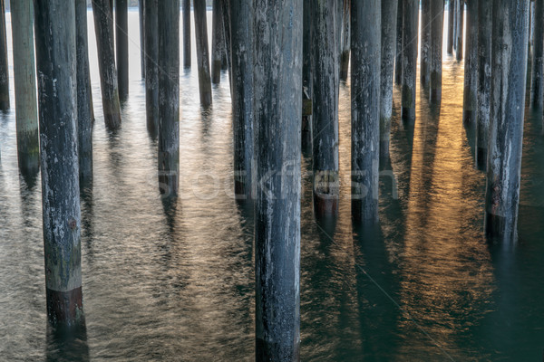 Under the Santa Cruz Wharf Stock photo © yhelfman