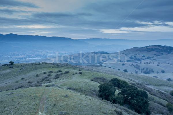 Dusk at Coyote Peak, Santa Teresa County Park, Santa Clara County, California Stock photo © yhelfman
