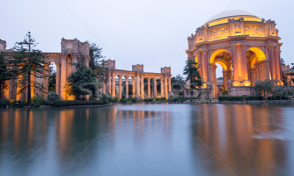 Palace Of Fine Arts, San Francisco, Dusk Stock photo © yhelfman
