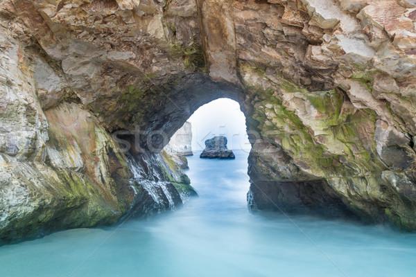 Sea Cave in Shark Tooth Beach. Stock photo © yhelfman