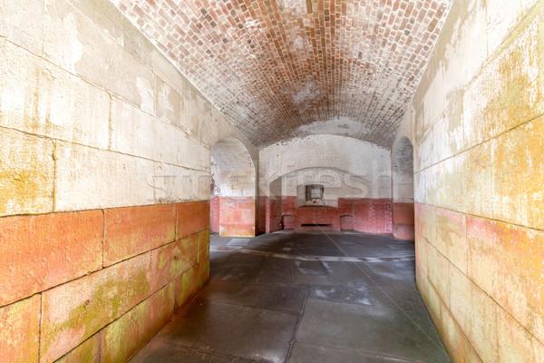 Stock photo: Empty corridors beneath Fort Point National Historic Site