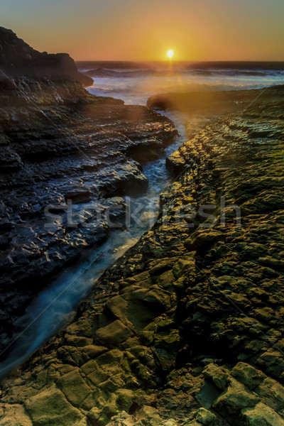 亀裂 日没 サンタクロース カリフォルニア 米国 自然 ストックフォト © yhelfman