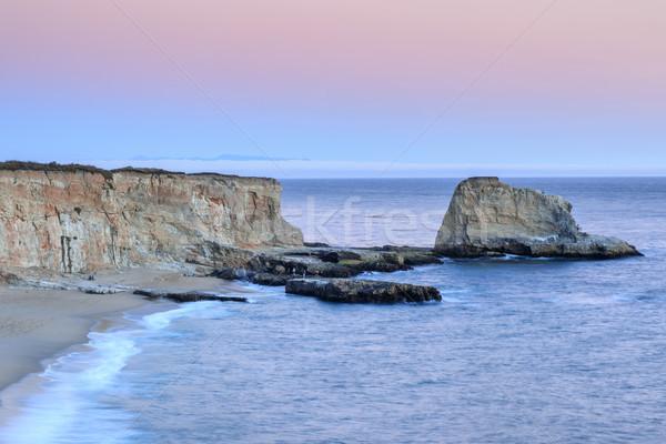 Hole In The Wall Beach Coastline. Stock photo © yhelfman