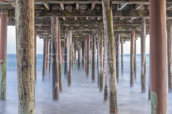 Under the Seacliff State Beach Fishing Pier. Stock photo © yhelfman